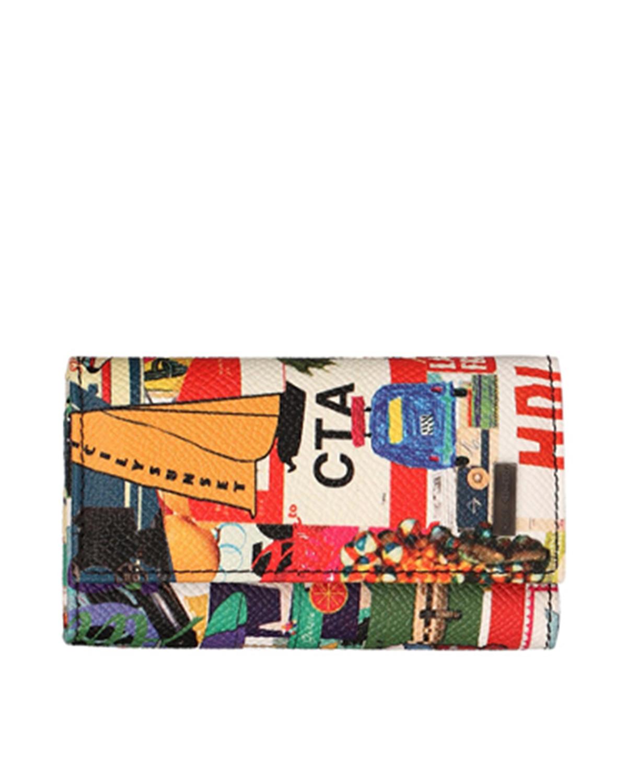 【时尚街拍范儿】意大利 Dolce & Gabbana 杜嘉班纳花色真皮经典钥匙包 BP0090 AP350 8R857