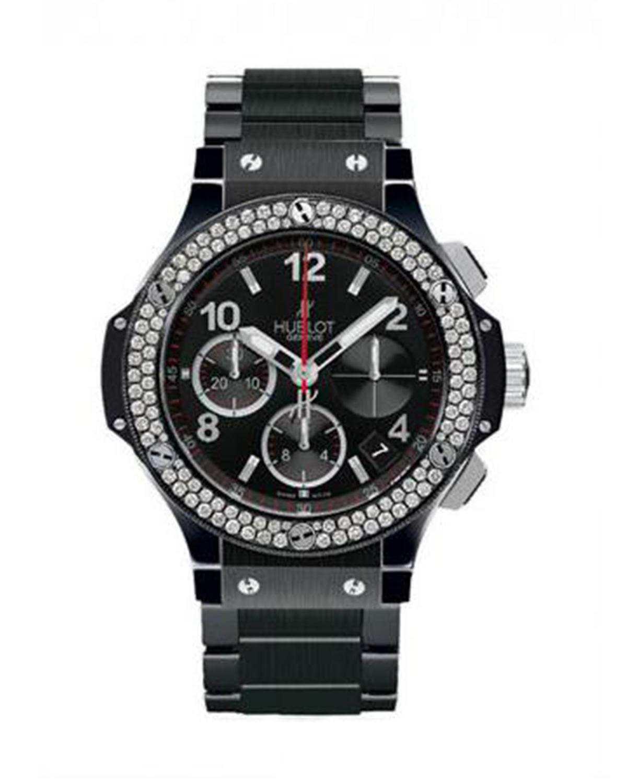 Hublot 宇舶 Big Bang  黑色陶瓷表带钻石机械男表 341CV130CM114