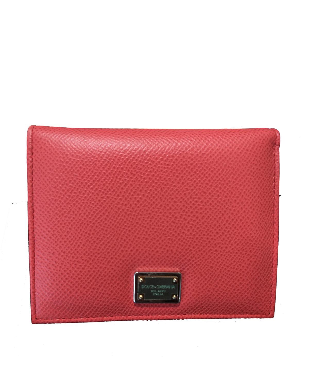 意大利 Dolce&Gabbana 杜嘉班纳D&G 红色真皮优雅女士钱包 BI0088 A1001 80301