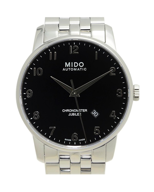 瑞士 MIDO 美度 黑色精钢自动机芯男士手表 M8690.4.18.1