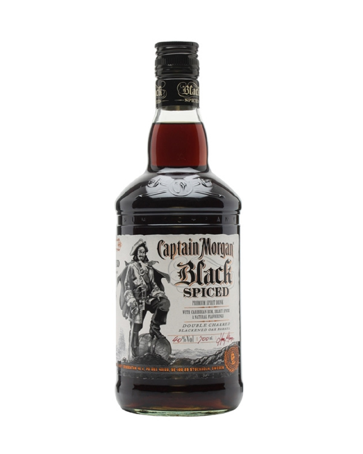 Captain Morgan Black Spiced 摩根船长调味黑朗姆 1L 40%vol