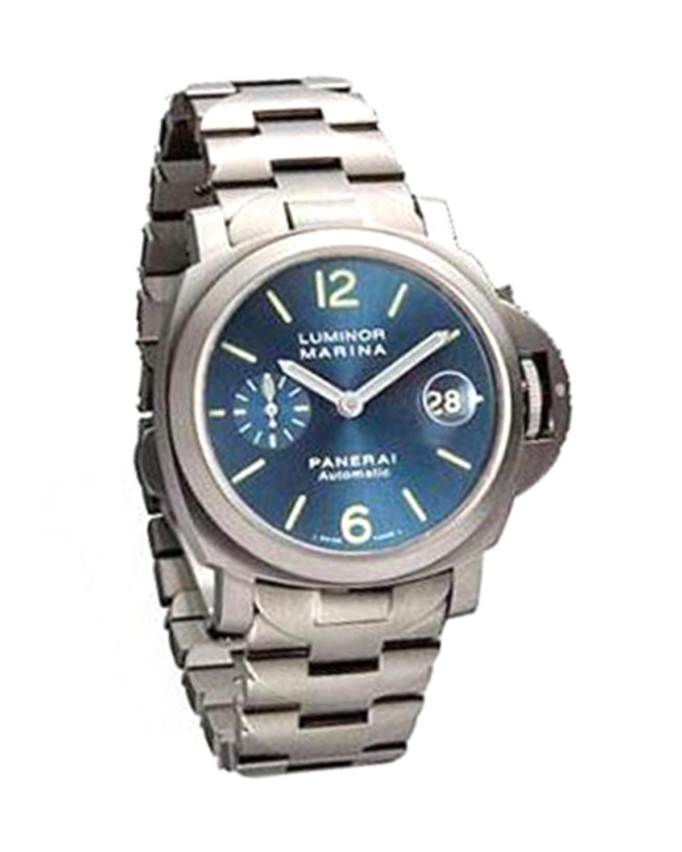 Panerai 沛纳海 Luminor Marina 40mm蓝色钛表盘机械不锈钢男士腕表 PAM 00283