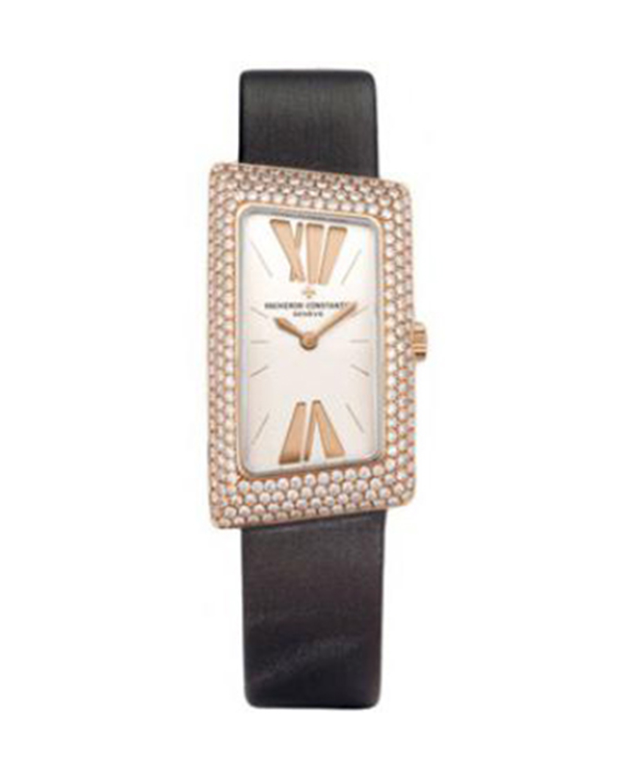 Vacheron Constantin 江诗丹顿 1972 18K玫瑰金纯天然加钻石石英女士腕表 25515000R9254