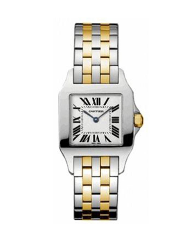 Cartier 卡地亚 Santos Demoiselle 18K黄金女士石英腕表 25067Z6