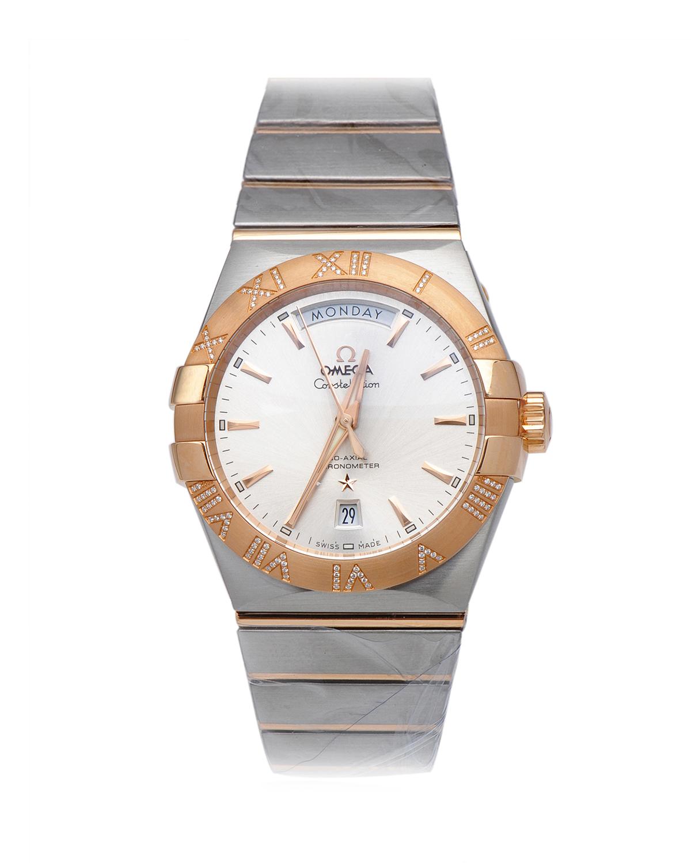 瑞士 Omega 欧米茄 星座系列 8612 18K玫瑰金和不锈钢日期和星期显示自动机械男士手表 123.25.38.22.02.001