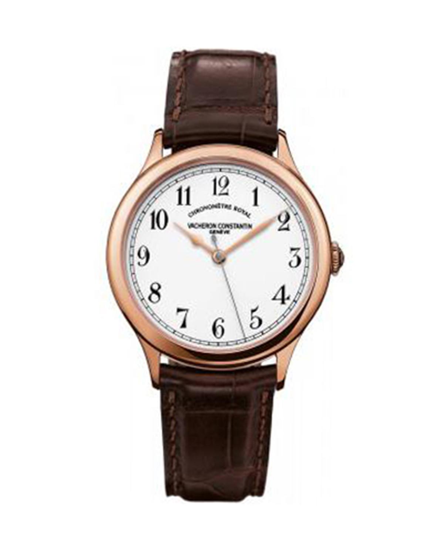 Vacheron Constantin 江诗丹顿 Historiques Chronometre Royal 1907 18K玫瑰金 鳄鱼皮机械男士腕表 86122000R9362