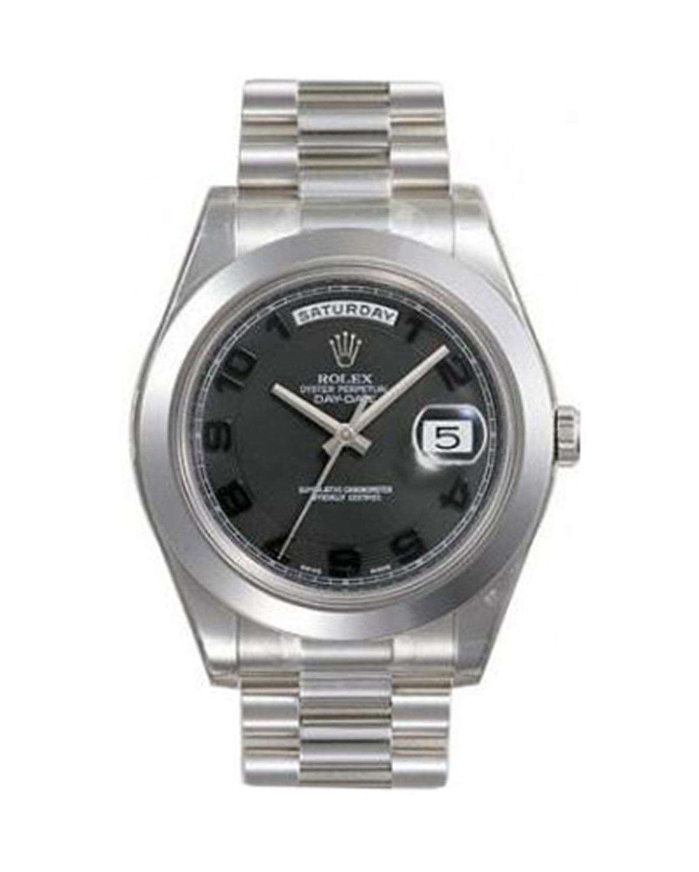 Rolex 劳力士 Day Date II President铂金蚝式 万年历 机械男士腕表 218206bkcap