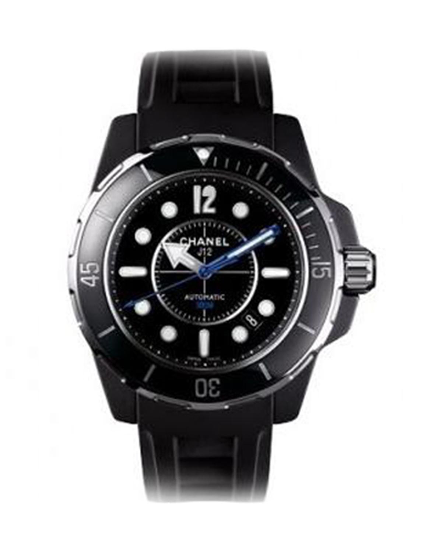 Chanel 香奈儿 J12 Marine 黑色陶瓷机械男士腕表 H2558