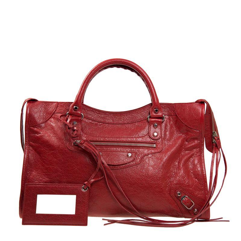 法国 BALENCIAGA 巴黎世家 红色羊皮经典女士手提包 115748D94JN6267