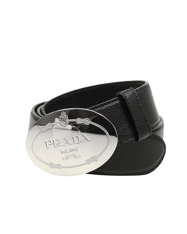 意大利 PRADA 普拉达 黑色牛皮皮带 1CC022 053 F0002 90CM