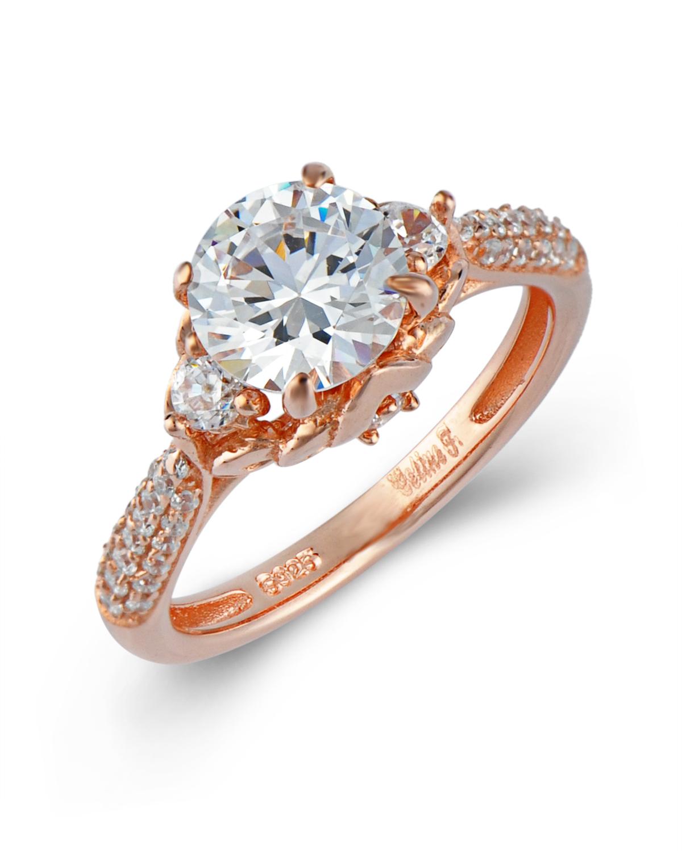 Celine Fang 赛琳·方925银镀玫瑰金锆石戒指