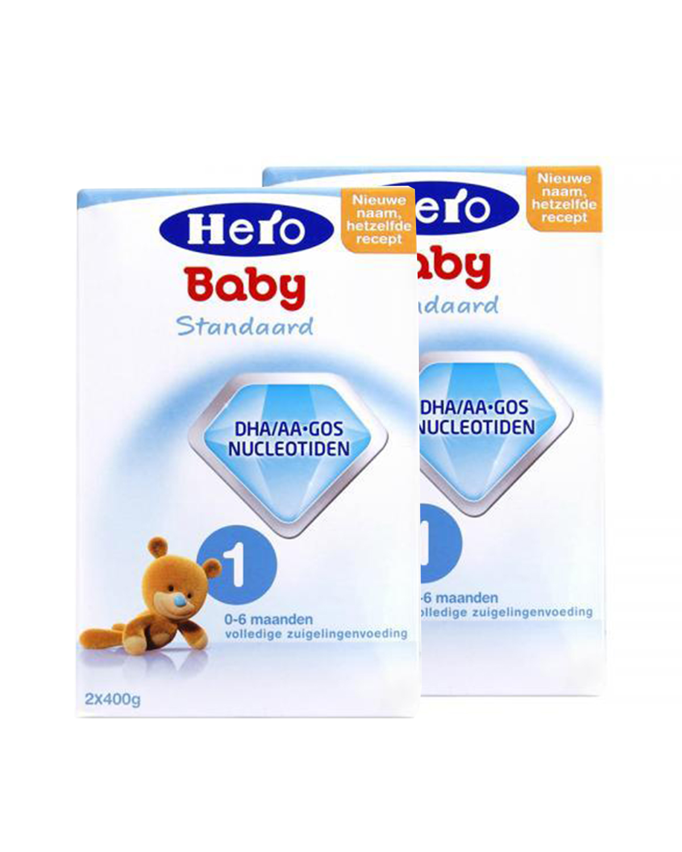 荷兰 Hero Baby 美素婴幼儿配方奶粉1段(0-6个月宝宝)800g 2盒装
