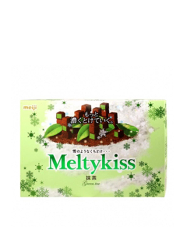 日本 Meiji 明治 雪吻绿茶朱古力礼盒装116g