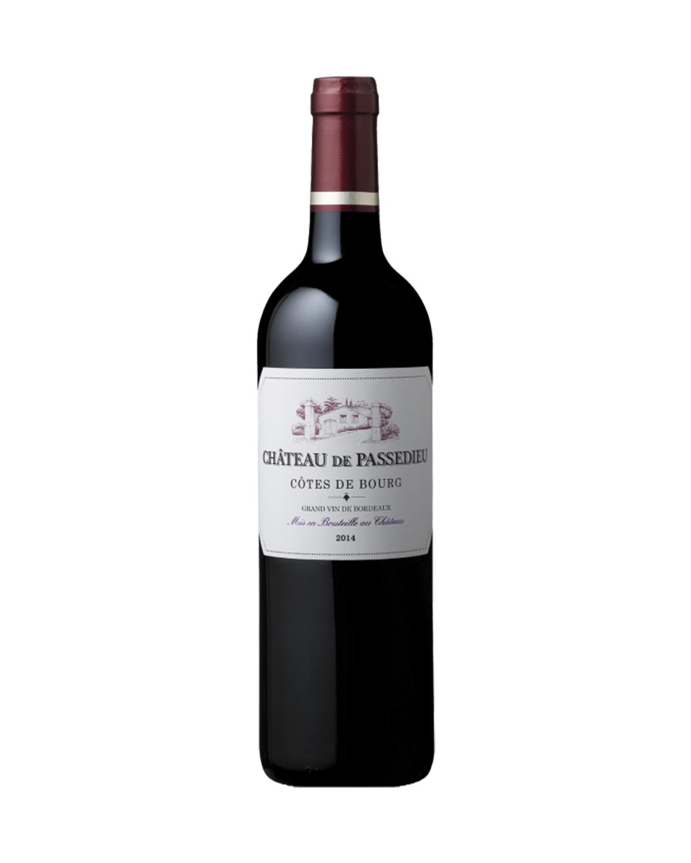 法国原装进口 布尔山丘产区 帕赛迪城堡2014红葡萄酒 750ml 13.5%vol. AOC级别 x2支