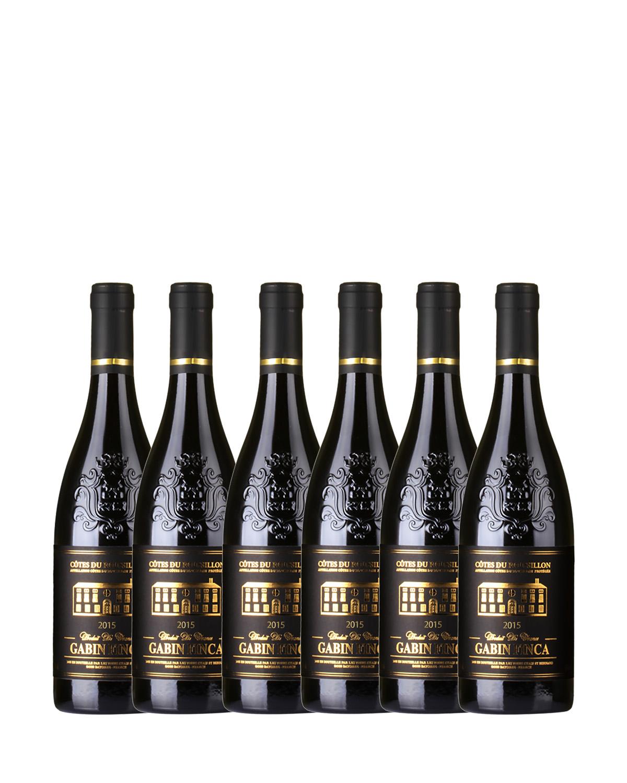 法国原装进口 鲁西荣产区 加宾庄园2015红葡萄酒 750ml 13.5%vol. AOC级别 x6支
