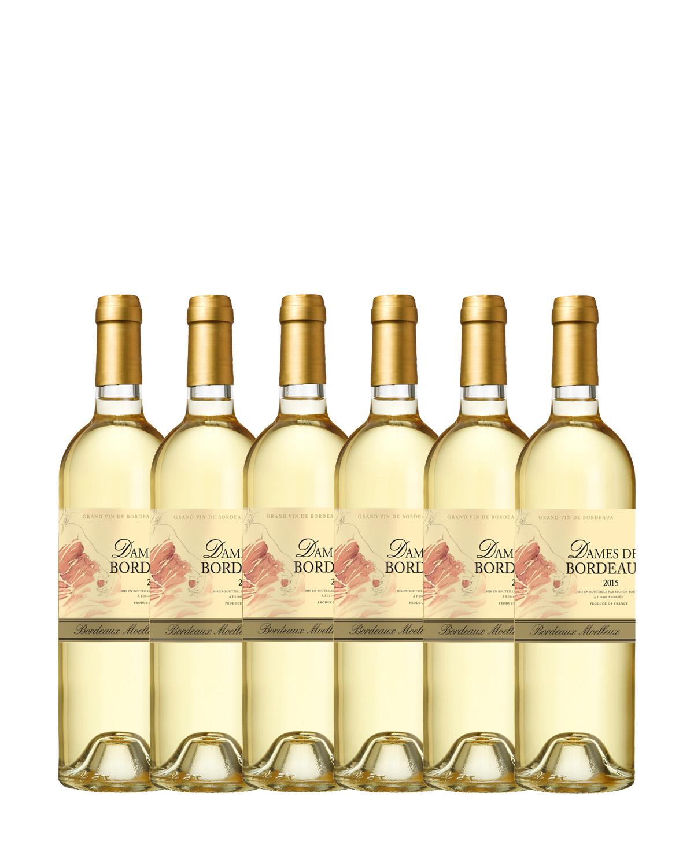 法国原装进口 波尔多产区 白露女爵2015甜白葡萄酒 750ml 11.5%vol. AOC级别 x6支