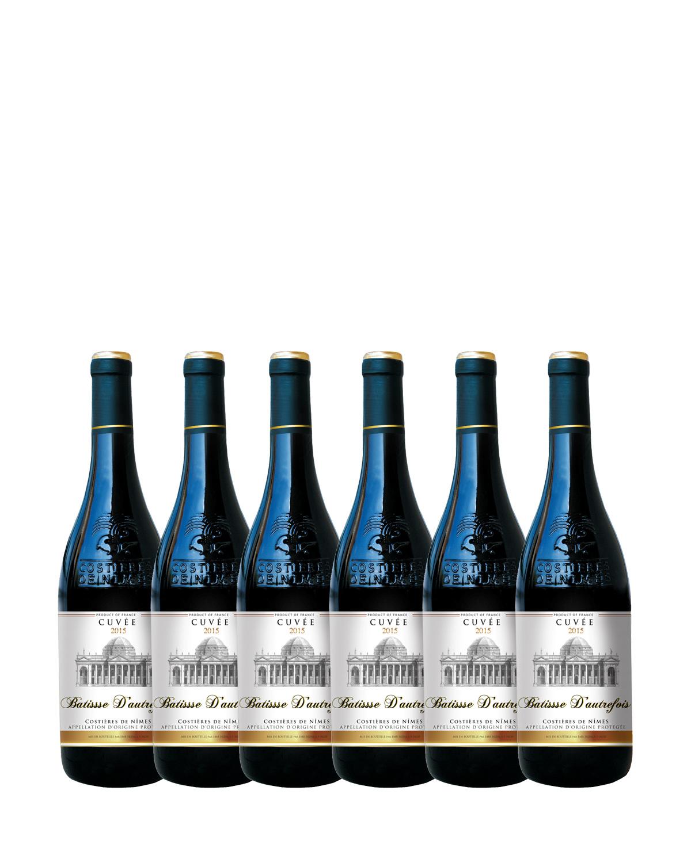 法国原装进口 尼姆丘产区 巴蒂斯2015红葡萄酒 750ml 13.5%vol. AOP级别 x6支