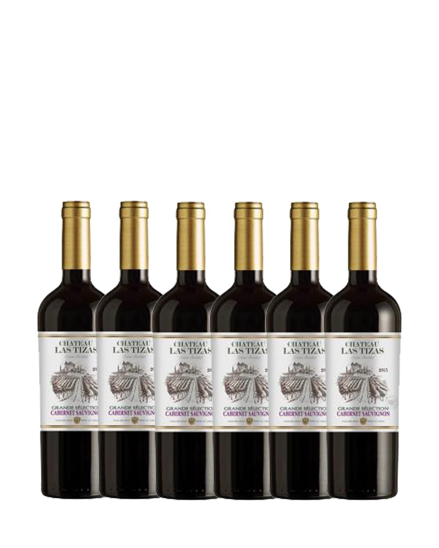 智利原装进口 莫莱谷产区 拉姿城堡赤霞珠2015红葡萄酒 750ml 13.5%vol. 精选级 x6支