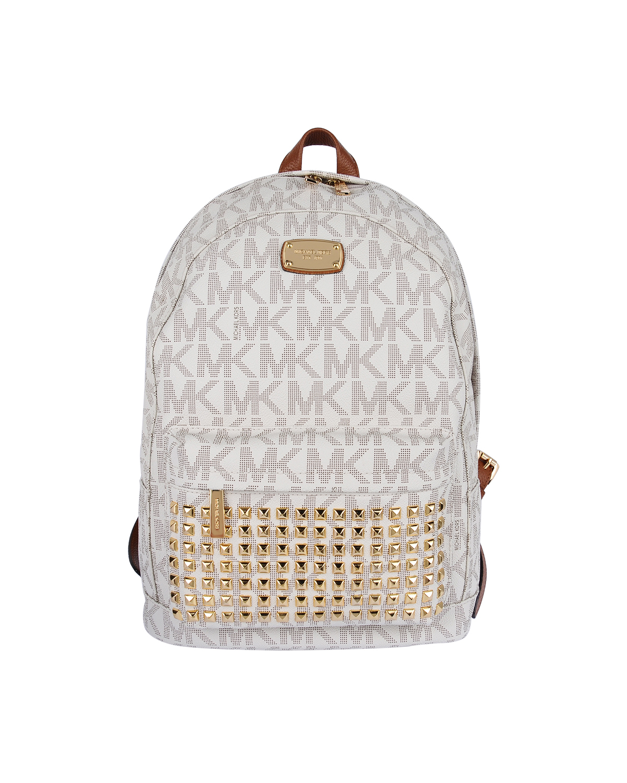 美国原装进口 Michael Kors 迈克高仕 白色LOGO字母图案柳丁女士双肩包 WA00001-WHITE
