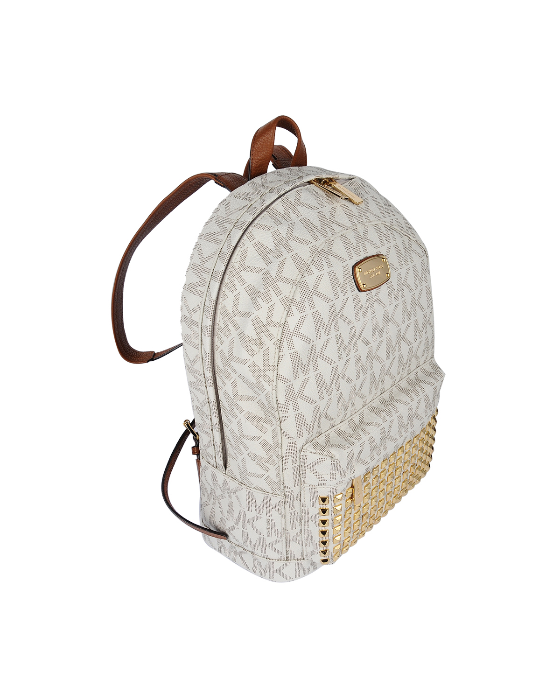 美国 Michael Kors 迈克高仕 白色LOGO字母图案柳丁女士双肩包 WA00001-WHITE