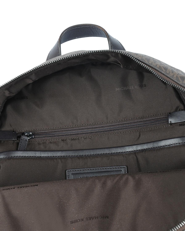 美国 Michael Kors 迈克高仕 棕色LOGO图案女士双肩包 WA19242-BROWN