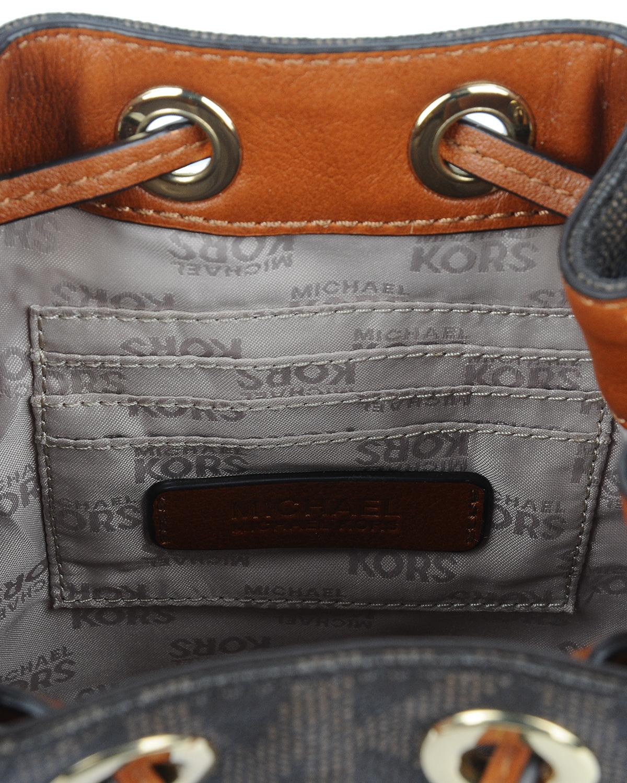 美国 Michael Kors 迈克高仕 棕色小牛皮女士水桶包 RD14133-BROWN