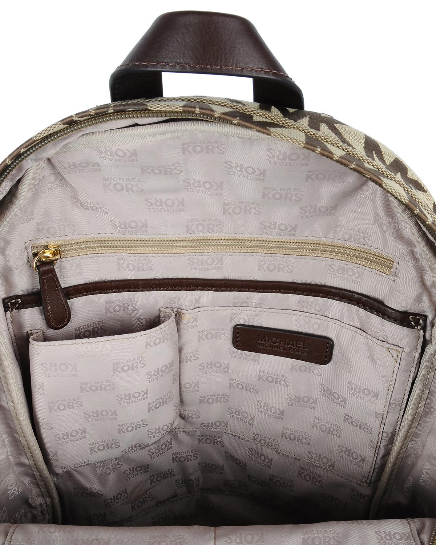 美国 Michael Kors 迈克高仕 棕色LOGO字母图案女士双肩包 NA32417-BROWN