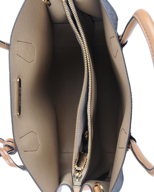 美国 Michael Kors 迈克高仕 棕色小牛皮女士单肩手提包 RD16187-BROWN