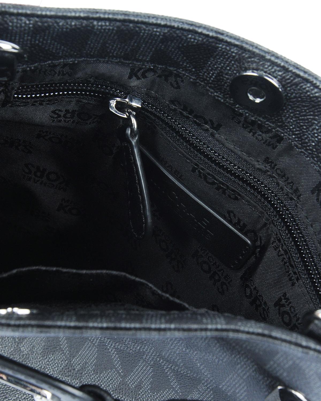 美国 Michael Kors 迈克高仕 黑色真皮女士单肩包 RD16485B-花纹BLACK