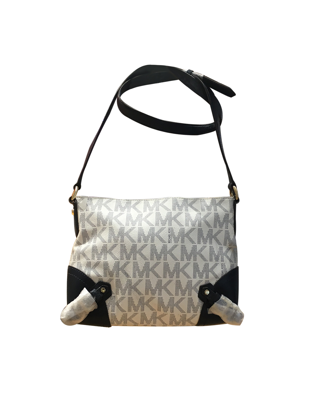 美国 Michael Kors 迈克高仕 LOGO字母图案女士单肩包 RD15604-WHITE / NAVY