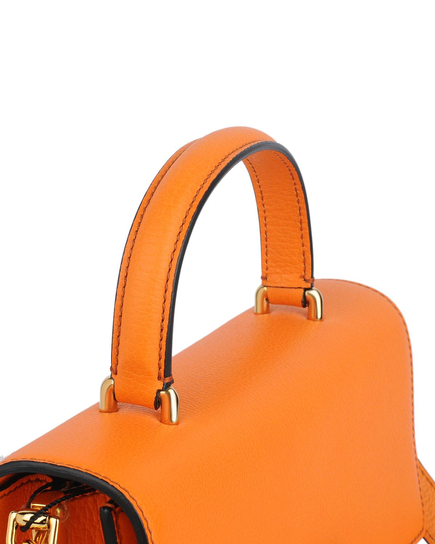 意大利 Dolce&Gabbana 杜嘉班纳D&G 橘色真皮女士风琴包 BB5841 AC177 80242
