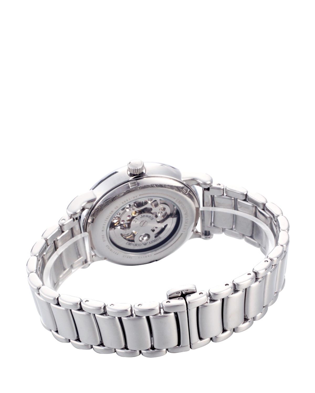 意大利原装进口 Emporio Armani 安普里奥·阿玛尼 银色钢带时尚个性镂空男士机械手表 AR1980