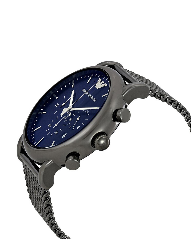 意大利原装进口 Emporio Armani 安普里奥·阿玛尼 蓝盘三眼日历钢带男士石英手表 AR1979