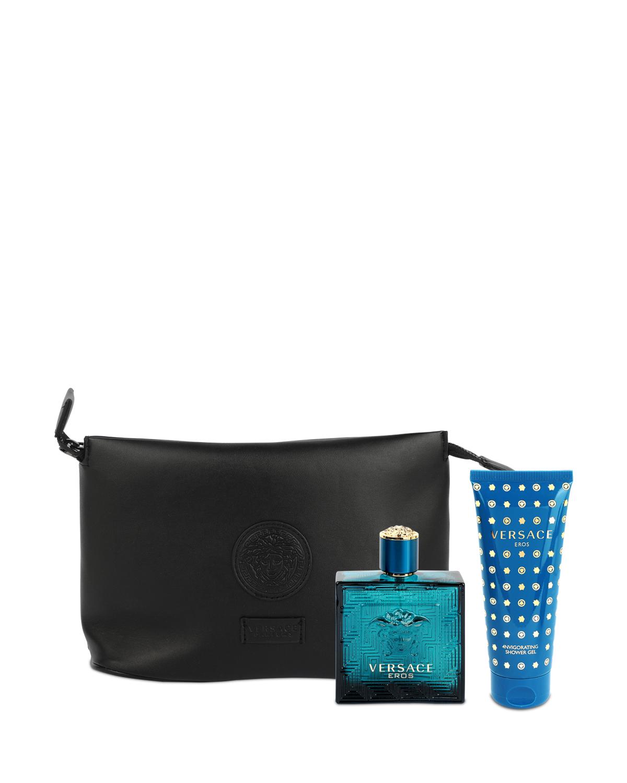 意大利 VERSACE 范思哲 情缘男士香水套装: 淡香水100ml+沐浴露100ml+黑色小袋