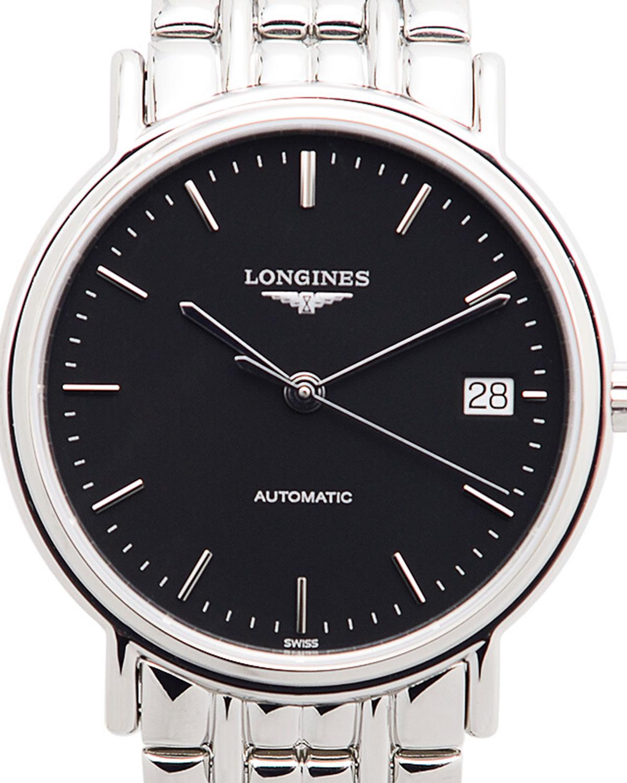 瑞士 LONGINES 浪琴 黑色精钢自动机芯男表 L4.821.4.52.6