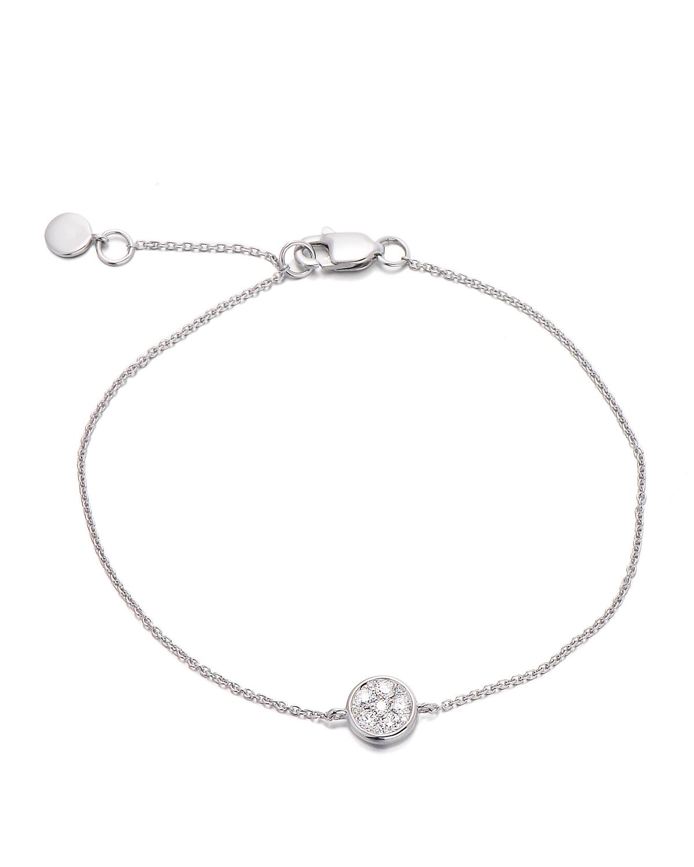 香港 ARTSY FINE JEWELLERY 18k白金 0.152克拉钻石镶嵌圆形女士手链