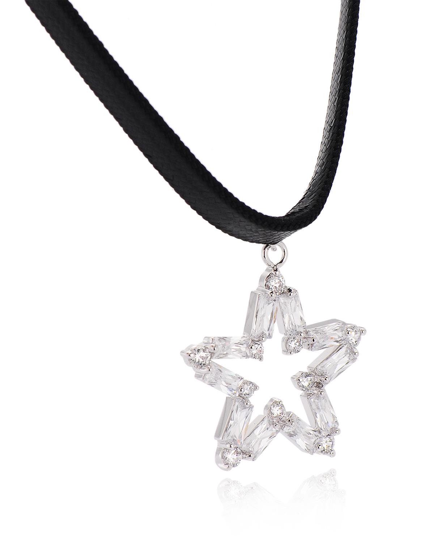 独家定制 Yanna Jewellery 时尚choker项圈 银色闪星女士项链