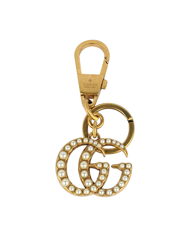 意大利 GUCCI 古驰 双G珍珠金色女士钥匙扣 476428-JCFAT-8817
