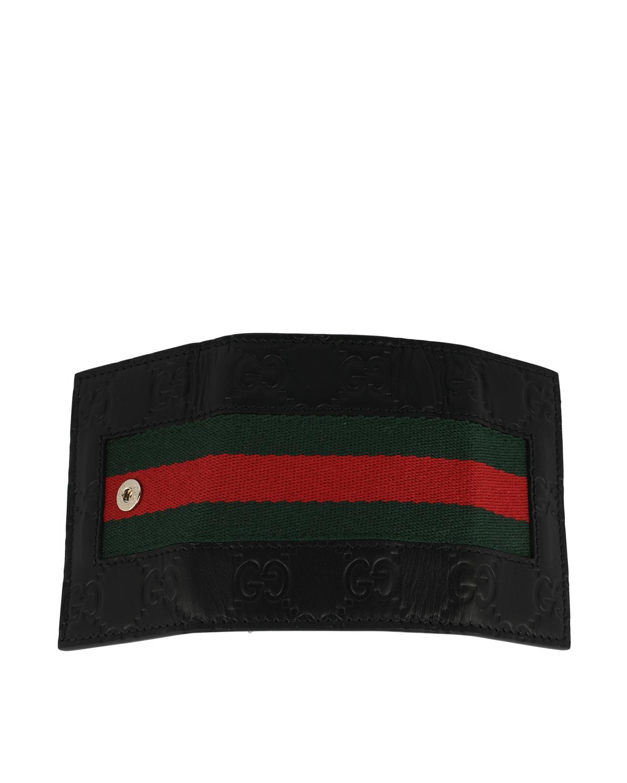 意大利 GUCCI 古驰 黑色饰条纹织带男士钥匙包 408828-CWCLN-1060