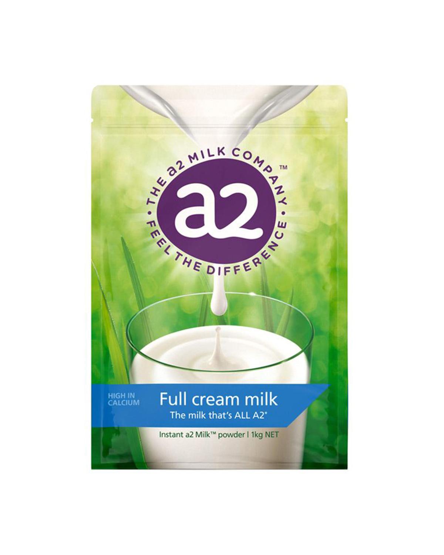 澳洲 A2 袋装高钙全脂高蛋白儿童学生成人奶粉 1kg 2袋装