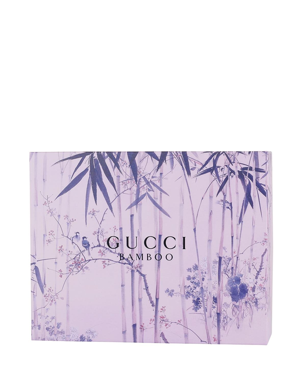 意大利 GUCCI 古驰 竹子香水套装: 淡香精Edp.75ml+淡香精Edp.7.4ml+身体润肤100ml