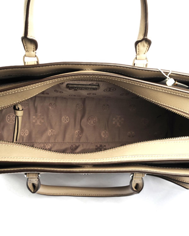 美国原装进口 Tory Burch 汤丽柏琦 女士灰色牛皮手提单肩包 11169761-036