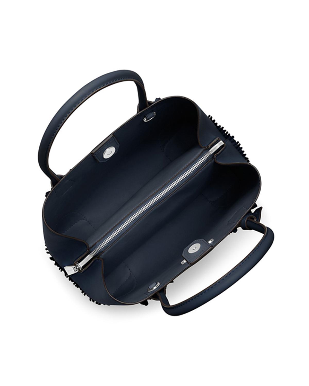 美国 Michael Kors 迈克高仕 深蓝色牛皮女士手提单肩包 30S8SZ5T6Y-ADMIRAL