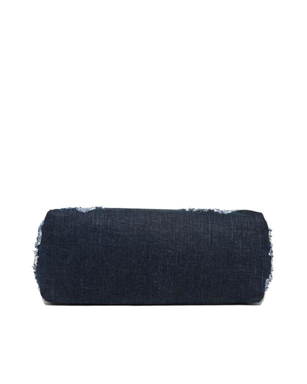 美国 Michael Kors 迈克高仕 DENIM ITEM系列 女士蓝色牛仔棉花朵手提单肩包 30S7SDNT3B INDIGO