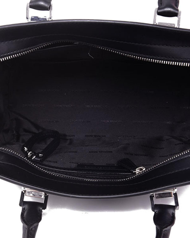美国原装进口 Michael Kors 迈克高仕 黑色皮革女士手提单肩斜挎包 30S7SP2S2L BLACK
