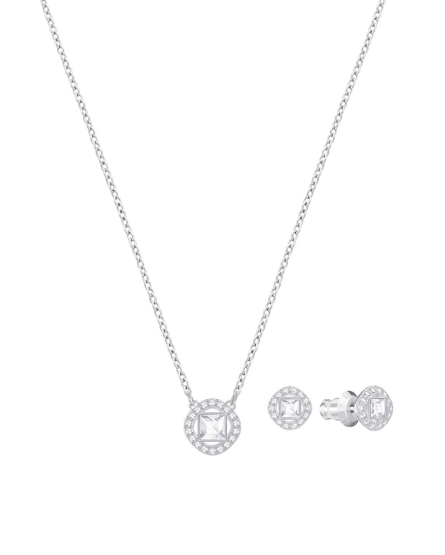 奥地利 Swarovski 施华洛世奇 ANGELIC SQUARE 时尚项链耳饰套装 银色5356951