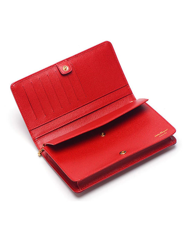 意大利 Salvatore Ferragamo 菲拉格慕 女士红色牛皮蝴蝶结单肩斜挎包 22C916 673772 LIPSTICK