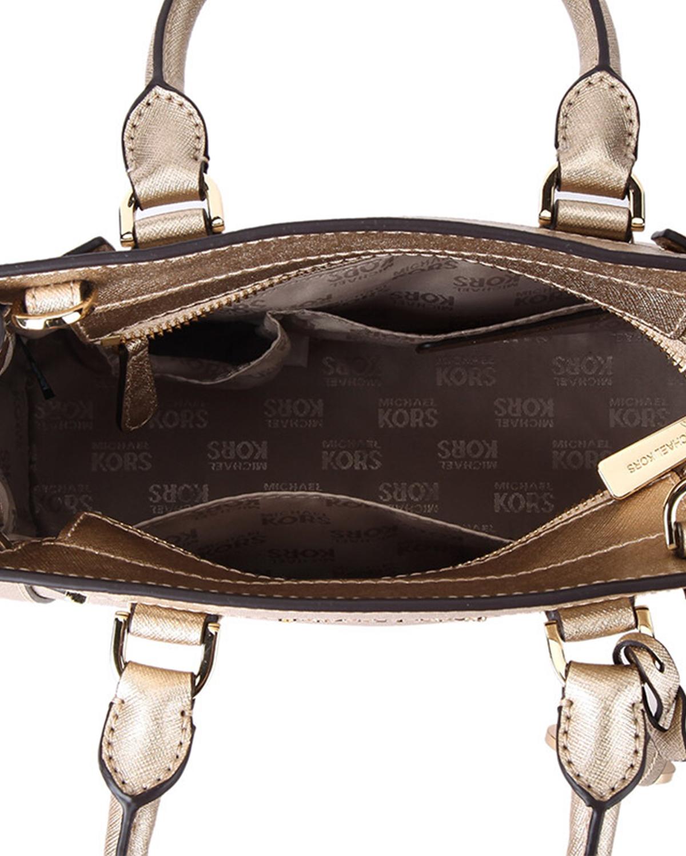 美国原装进口 Michael Kors 迈克高仕 淡金色皮革女士小号手提包 35S8GAIS1M-PALE GOLD