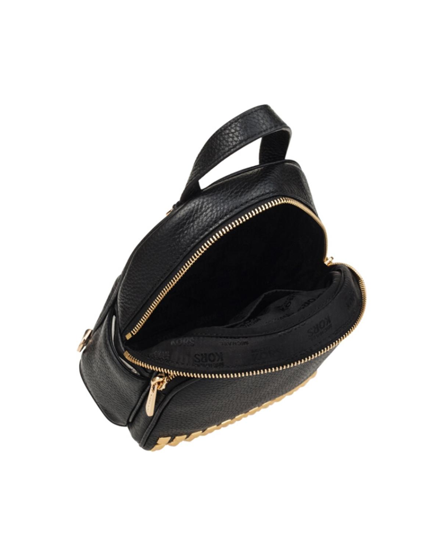 美国原装进口 Michael Kors 迈克高仕 Abbey 超小签名女士铆钉小号背包 黑色 35T7GAYB1L-BLACK