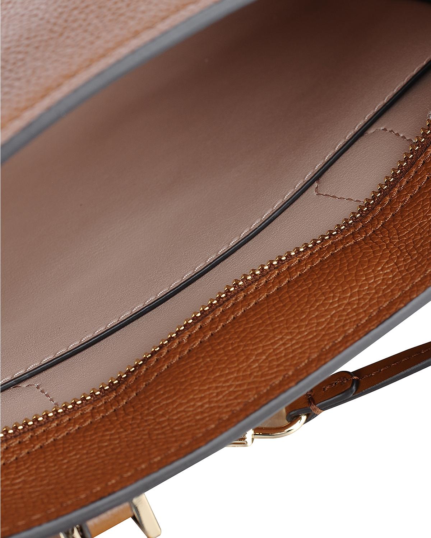 美国原装进口 Michael Kors 迈克高仕 女士棕色皮革小号手提斜跨单肩包 35F8GYEM6T-LUGG/BALLET